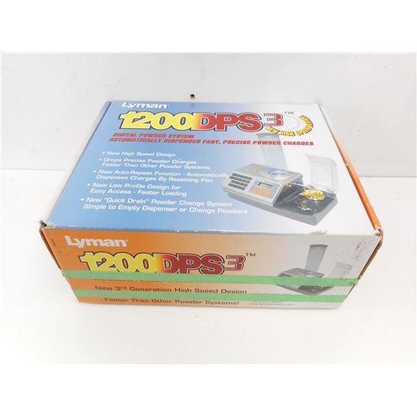 LYMAN 1200 DPS DIGITAL POWDER SYSTEM IN BOX WITH INSTRUCTIONS