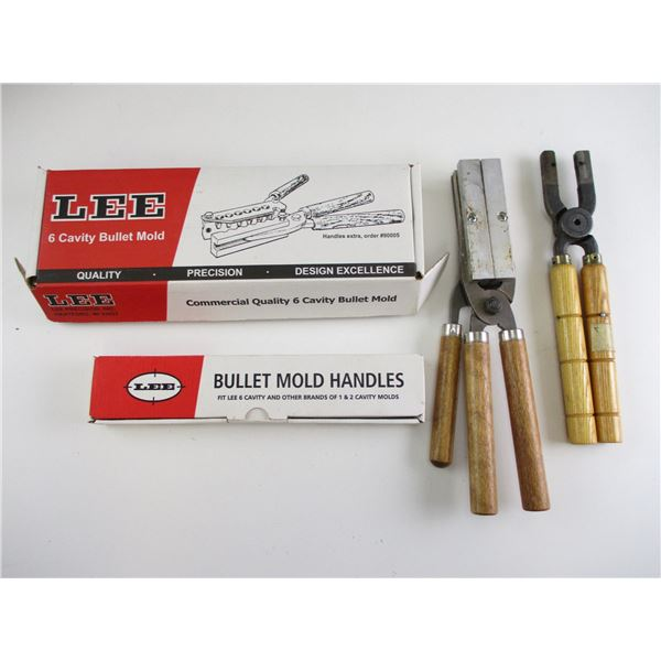 LEE BULLET MOLD & SPARE HANDLES