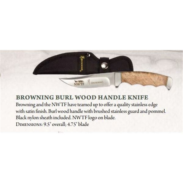 Browning Burl Wood Knife