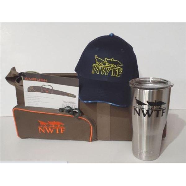 "NWTF 52"" gun case, hat and 30oz tumbler"
