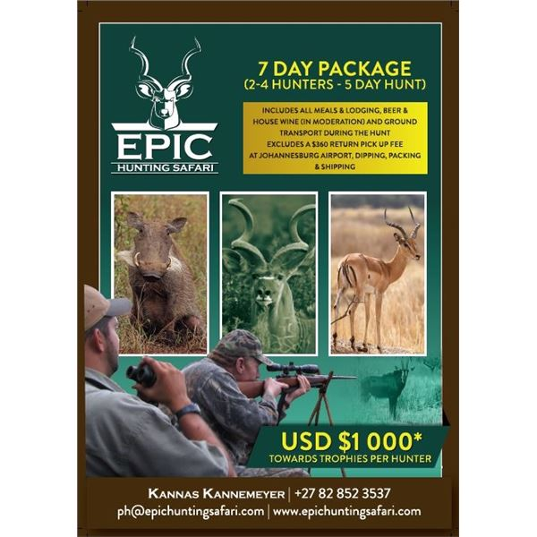 Epic Hunting Safari