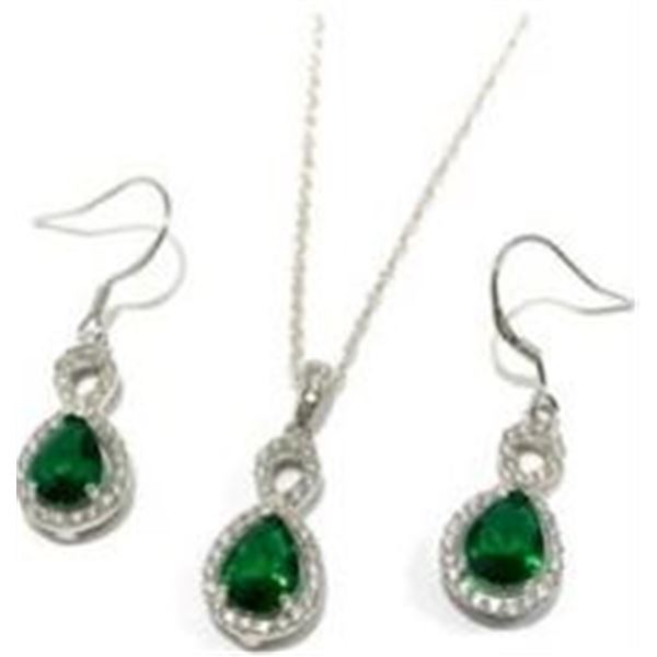 Pear Shaped Mt St. Helens Pendant and Earrings
