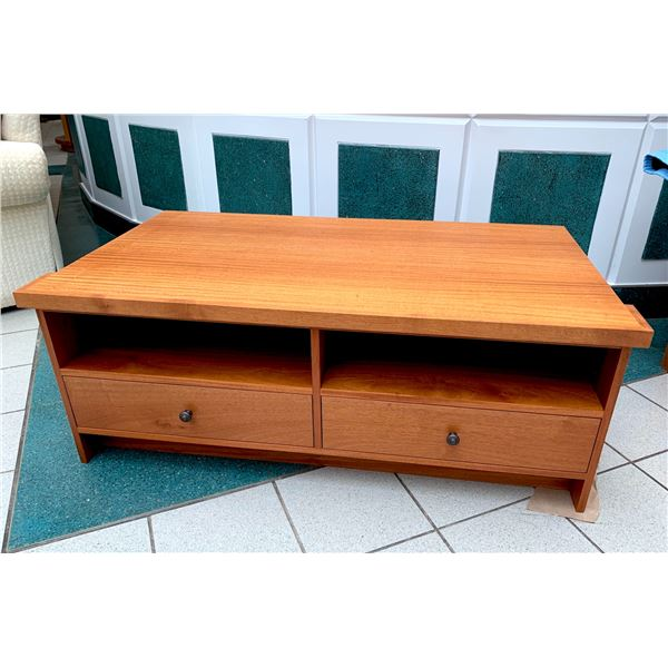 """Entertainment Center TV Stand Middle Piece, Exotic Wood 53"""" W x 29"""" D x 20"""" H"""