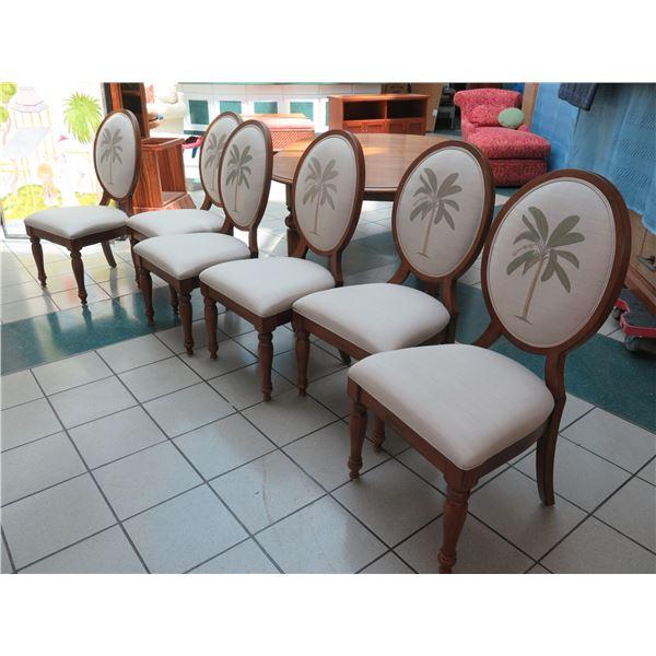 "Qty 6 Grid-Back Dining Room Chairs, Lexington Furniture 21""W x 19""D x 42"" Back Ht"