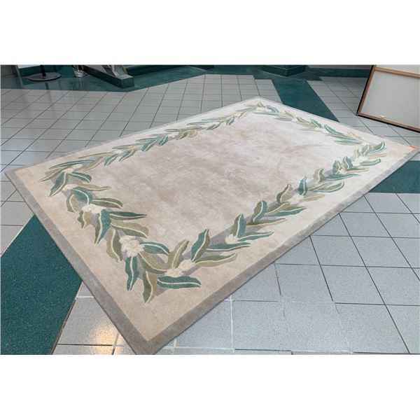 """Indich Collection """"Hawaiian Rugs"""" Wool Area Rug, Maile Lei Motif 8' x 12'"""