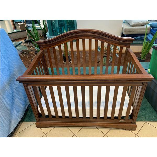"Wooden Crib w/ Mattress by Truly Scrumptuous 59""L x 31""W x 50""H"