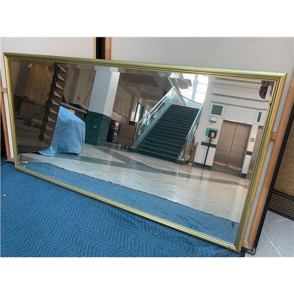 "Framed Gold-Tone Mirror 70.5"" x 36"""