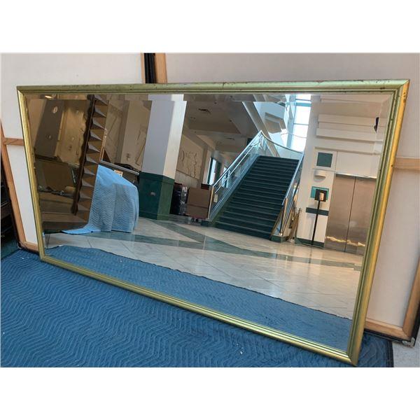 "Framed Gold-Tone Mirror 64"" x 36"""
