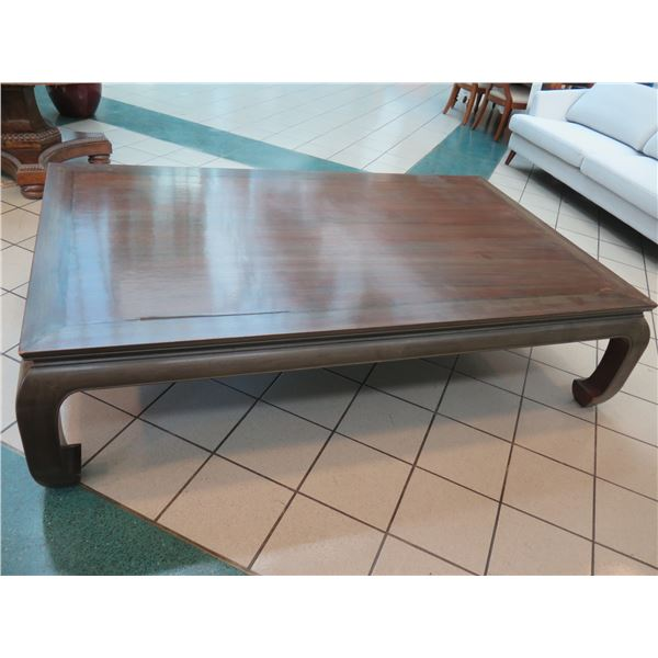 """Large Coffee Table 83"""" x 50"""" x 21""""H (has some damage)"""