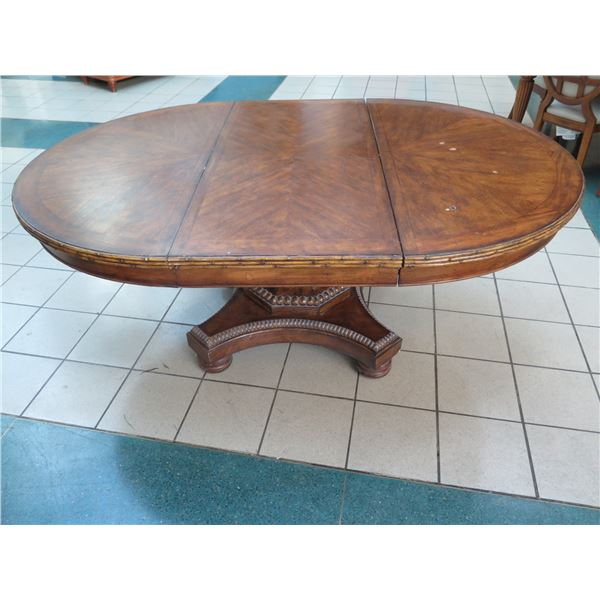 """Large Wooden Dining Table 78"""" x 54"""" x 30"""" H (has surface wear)"""