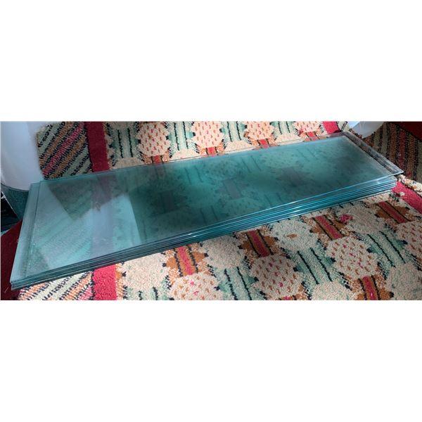 Qty 7 Rectangular Glass Shelving 35.5 x 13