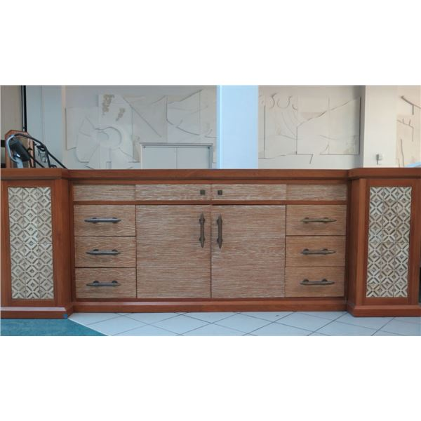 Large-4-Piece-Solid-Wood-Entertainment-Center-w-Cabinet-6-Drawers