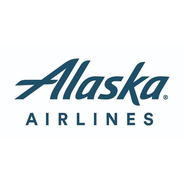 Qty 2 Roundtrip Alaska Airlines Travel Vouchers - Main Cabin