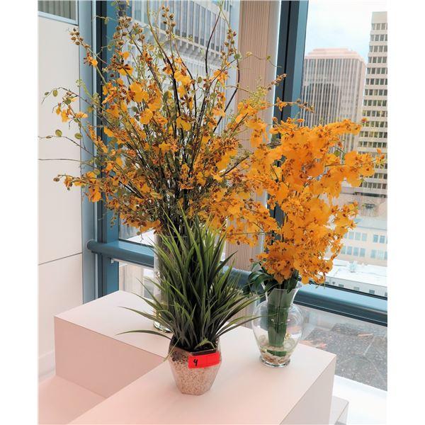 Qty 3 Artificial Flowers/Plants