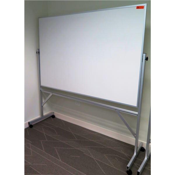 White Board in Aluminum Frame w/ Stand