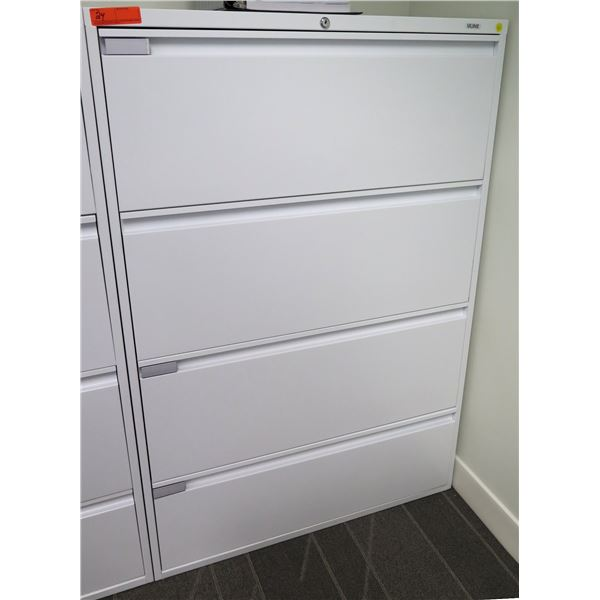 Uline Tall 4 Drawer Legal Lateral File Cabinet