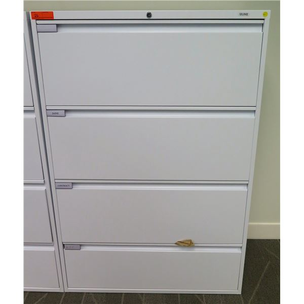 """Uline Tall 4-Drawer Legal Lateral File Cabinet 36"""" x 18"""" x 54""""H"""