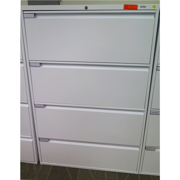 Uline Tall 4-Drawer Legal Lateral File Cabinet 36  x 18  x 54 H