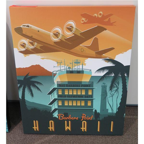 Aviation Art Work Airplane Barber's Point Hawaii
