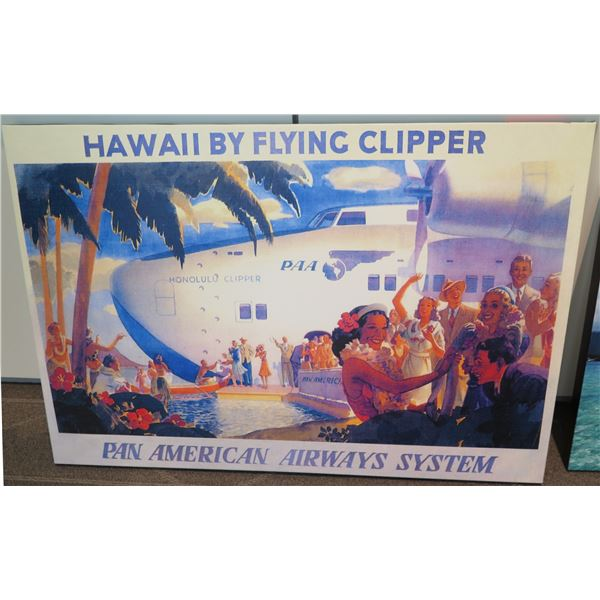 Aviation Art Work Hawaii by Flying Clipper Pan American Airways System