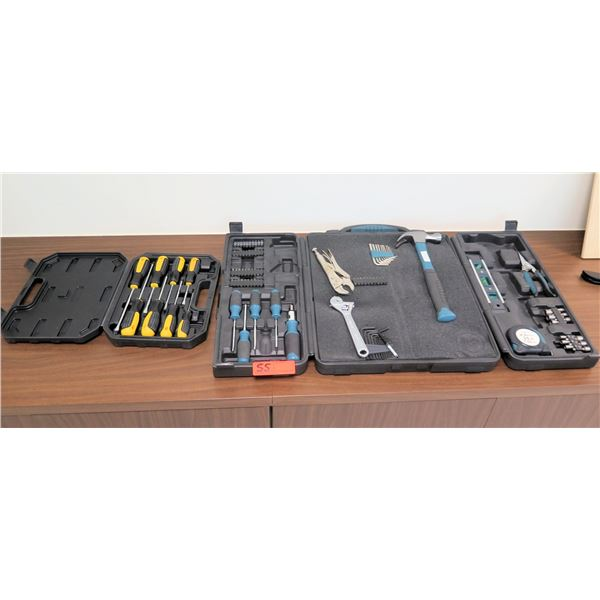 Qty 2 Tool Sets in Hard Cases: Drivers, Ratchets, Sockets, etc