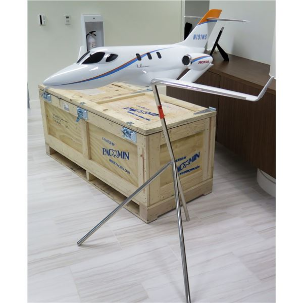 HondaJet Airplanel Model by Pacmin, Stand & Wooden Box (Reported purchased for $11,200.48)