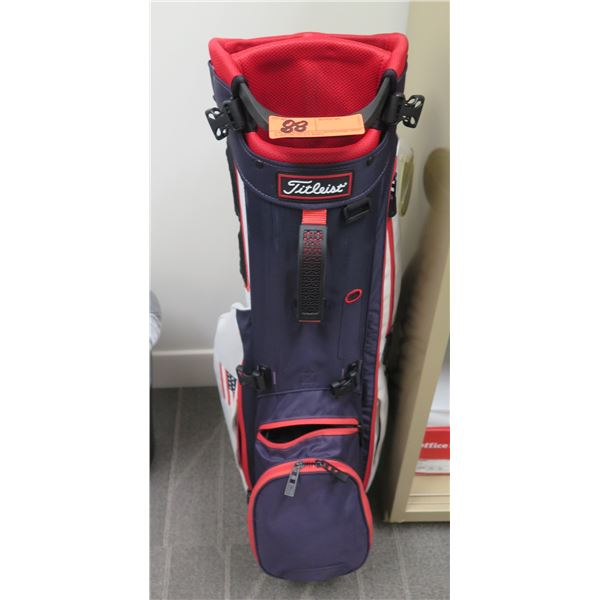 Titleist Golf Bag In Blue & Red