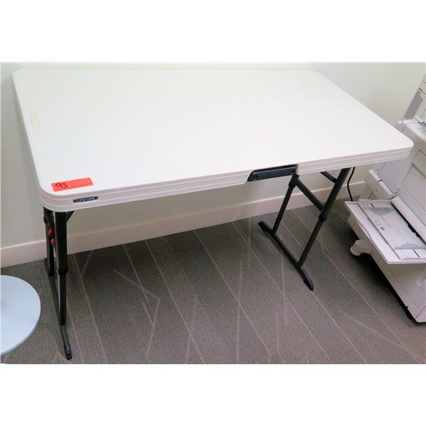 Lifetime Heavy Plastic Folding Table w/ Metal Legs