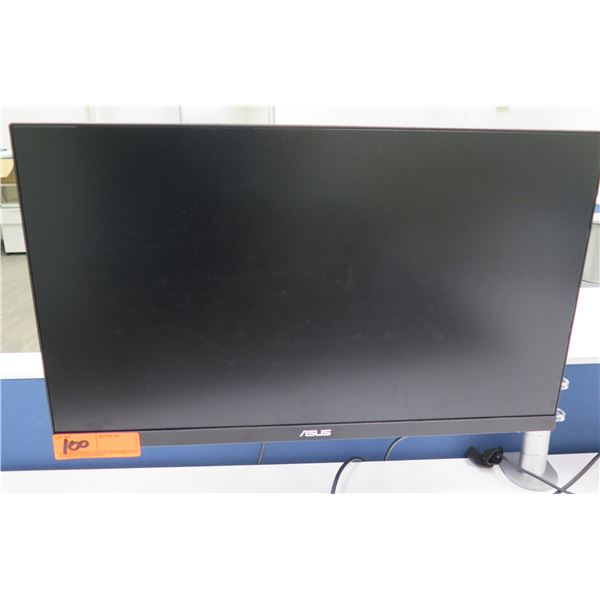 Asus Flat Screen Computer Monitor VA24E (does not include brackets and mounting arm shown attached t