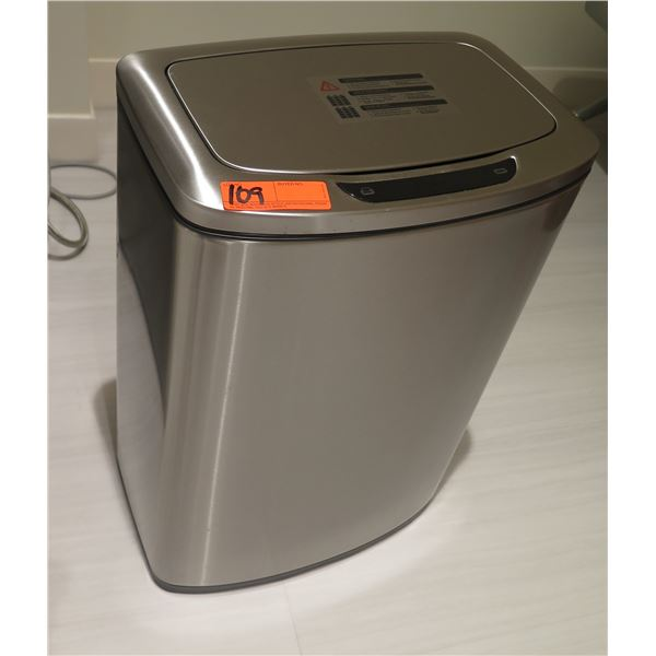 Stainless Steel Electronic 12 Gallon Trash Can