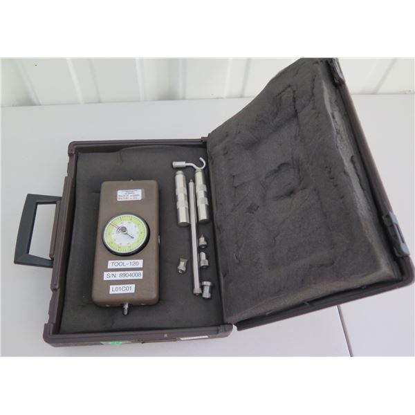 Chatillon Push/Pull Force Gauge P/N: DPPH-50 w/ Accessories in Hard Case