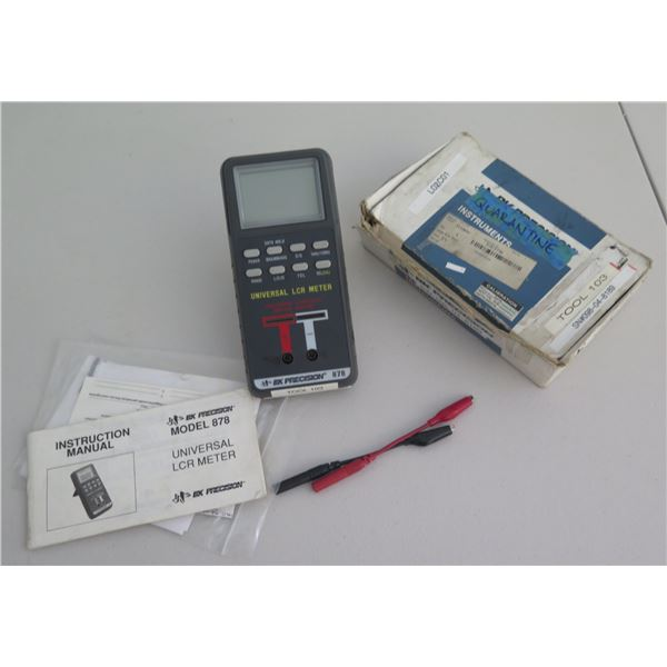 Universal LCR Meter Model 878 w/ Connections, Box & Instruction Manual