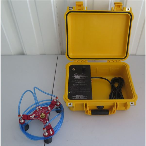 Aerospace Instruments Support Aircraft Static Test Adapter SA3Y-P-2 in Hard Case