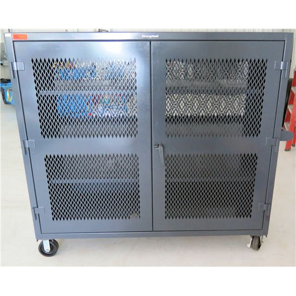 StrongHold Heavy Duty Mobile Ventilated Cabinet Model 65-VB-243-CA (Retail $3380)