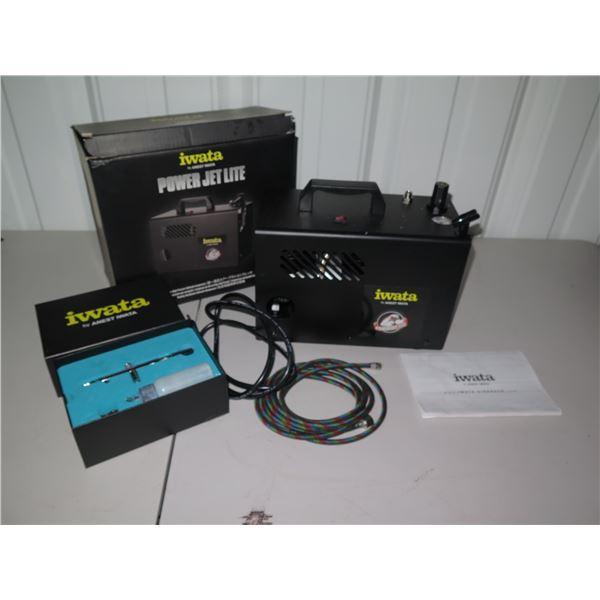 Iwata Power Jet Lite Airbrush Compressor w/ Handpiece