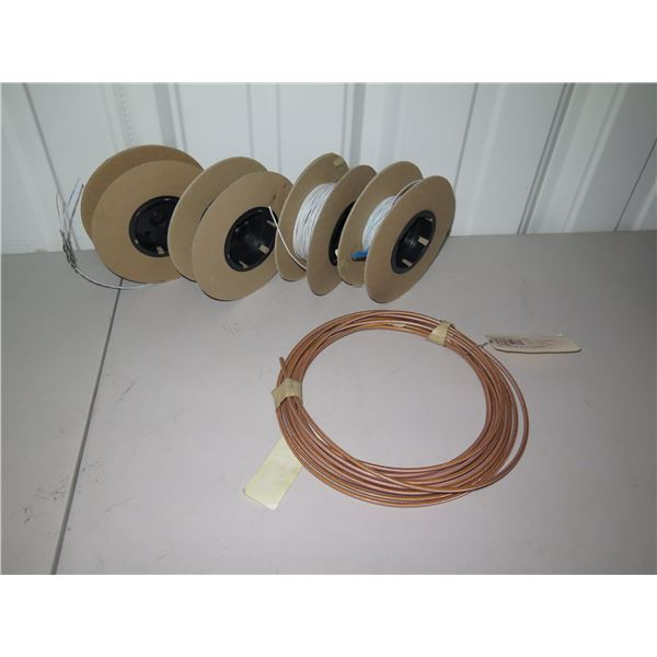 Qty 4 Spools & 1 Coil of Aviation Wiring