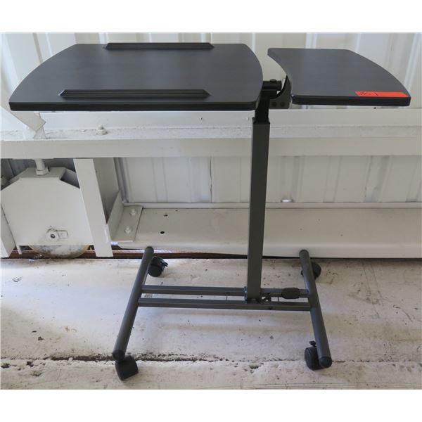 Metal Rolling Split Dual Surface Laptop Cart Table 9798386