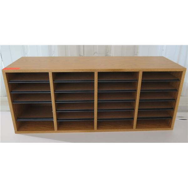 """Wooden Cabinet w/ 24 Compartments 40""""x12""""x16""""H"""