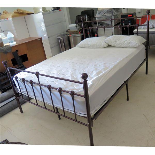 Allswell Home Beautyrest Black Mattress AW19-037-01-02 w/ Frame & 2 Pillows