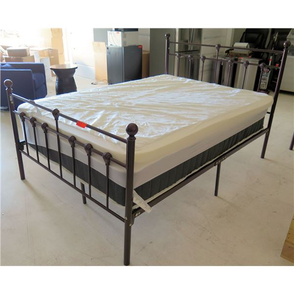 Allswell Home Black Mattress AW19-037-01-02 w/ Frame & Cover