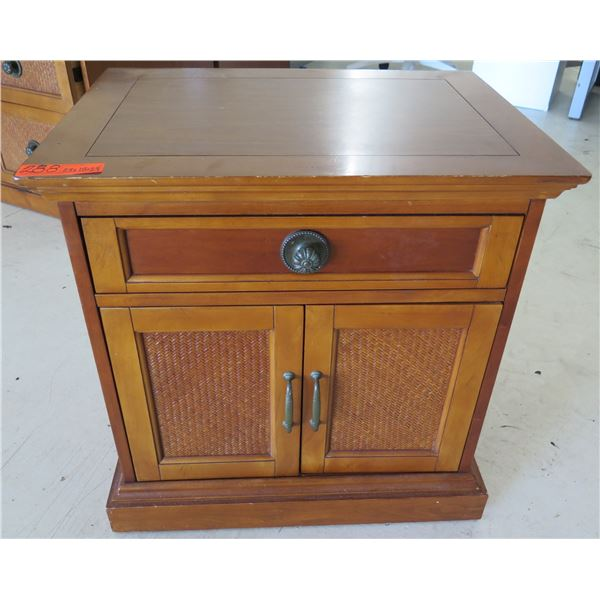 """Wooden End Table w/ Drawer & 2 Door Cabinet 24""""x18""""x24""""H"""