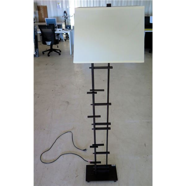 Tall Wooden Lamp w/ Square Shade