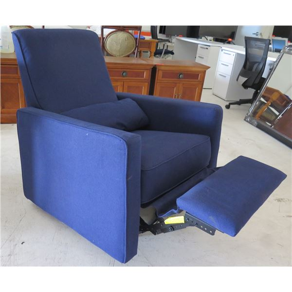 """Million Dollar Baby Blue Upholstered Reclining Lounge Chair M10887 33""""x30""""x38"""