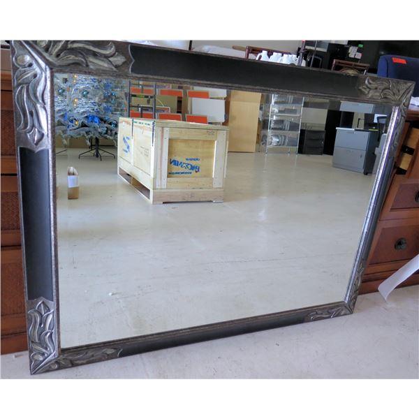 Wall Mirror w/ Etched Design Frame Bath-Hawaiian Village (HGVC)