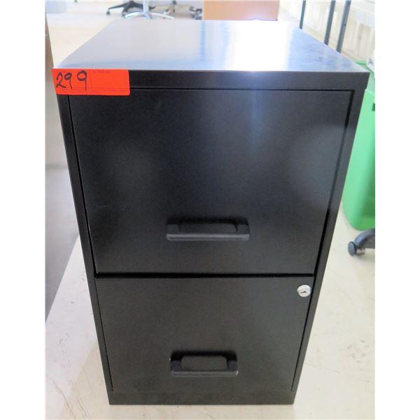 Brown Metal 2 Drawer Filing Cabinet
