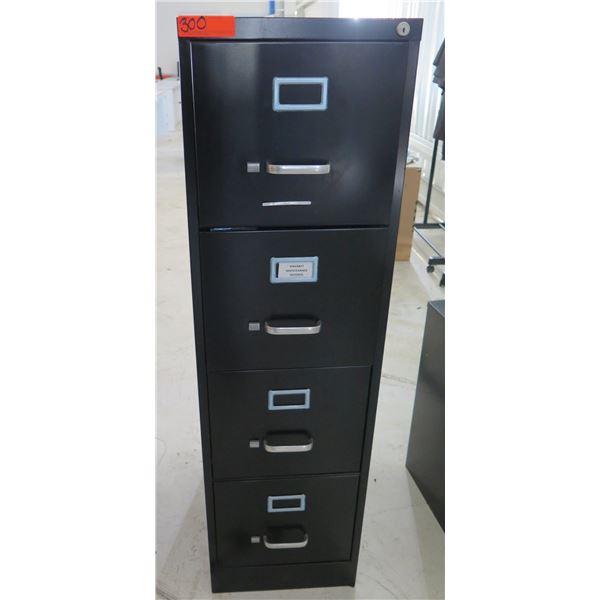 Brown Metal 5 Drawer Filing Cabinet
