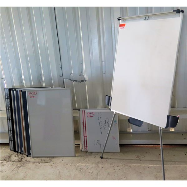 """White Board in Aluminum Frame w/ Stand & Multiple Boards 24""""x36/29""""x66"""""""