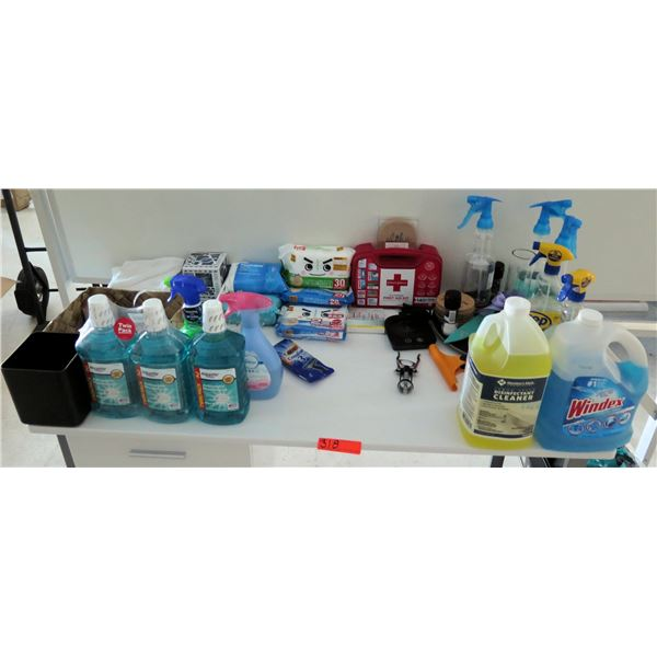 Misc Supplies: Cleaners, Mouthwash, Shower Foamer, Febreze, First Aid Kit, etc