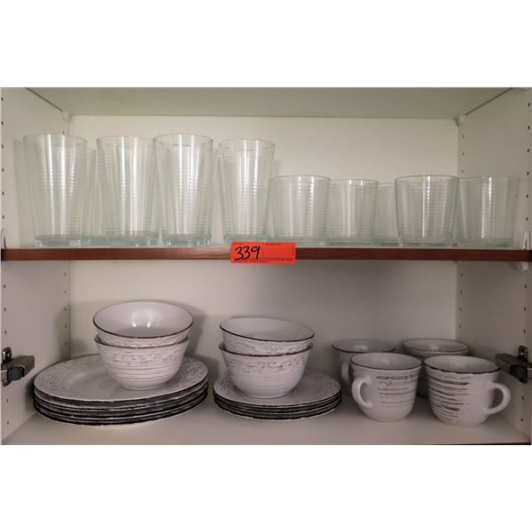 Misc Glassware & Dishes: Bowls, Plates, Coffee Cups, Drinking Glasses