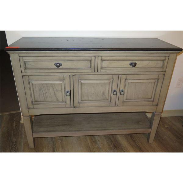 """Wooden Cabinet w/ 2 Drawers, 3 Doors & Undershelf 48""""x16""""x36"""""""